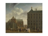 The Nieuwe Kerk and the Town Hall on the Dam in Amsterdam, C.1780-90 Giclee Print by Isaak Ouwater