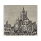 The Restoration of Christ Church Cathedral, Dublin, View of the Exterior and the Synod House Giclee Print by Henry William Brewer