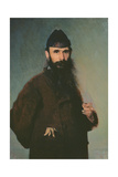 Portrait of Alexander Litovtchenko (1835-90), 1878 Giclee Print by Ivan Nikolaevich Kramskoy