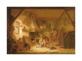 Children Playing by a Cottage Fire, 1641 Giclee Print by Isack van Ostade