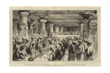 The Royal Visit to India, the Prince of Wales Dining in the Caves of Elephanta, Bombay Giclee Print by Henry William Brewer
