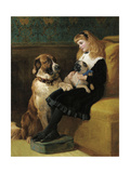 Her Only Playmates, 1870 Giclee Print by Heywood Hardy