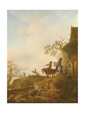 Horsemen Halting at an Inn, C.1640s Giclee Print by Isack van Ostade