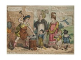 A New Chancery Suit Removed to the Scotch Bar or More Legitimates, 1819 Giclee Print by Isaac Robert Cruikshank