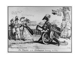 The Master of the Ordnance Exercising His Hobby', 1819 Giclee Print by Isaac Cruikshank