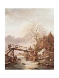 A Winter Scene, 1640 Lámina giclée por Isack van Ostade