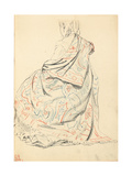 Study for 'A Parisian Cafe': a Seated Woman's Dress from Behind, C. 1872-1875 Giclee Print by Ilya Efimovich Repin