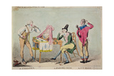 Cartoon of the French Aristocratic Emigres in England During the Revolution, 1791 Giclee Print by Isaac Cruikshank