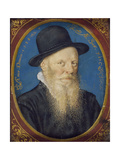 Elderly Man in a Black Hat, 1588 Giclee Print by Isaac Oliver