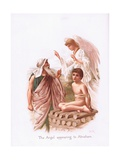 The Angel Appearing to Abraham Giclee Print by Henry Ryland