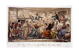 The Buff Club at the Pig and Whistle Giclee Print by Isaac Robert Cruikshank