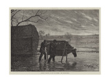 Shooting Wildfowl on the Upper Thames, the Stalking-Horse Giclee Print by Henry Robert Robertson