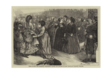 Paris under the Commune, Searching Women for Letters at the Northern Railway Station Giclee Print by Henry Woods