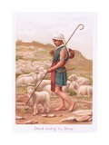 David Tending His Sheep Giclee Print by Henry Ryland