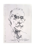 Thomas Mann (1875-1955) 13th March 1986 Giclee Print by Horst Janssen