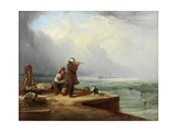 The Look Out, Shields Harbour, 1831 Giclee Print by Henry Perlee Parker