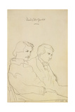 Edmond Louis Antoine Huot De Goncourt (1822-96) and Jules Alfred Huot De Goncourt (1830-70) 25 Octo Giclee Print by Horst Janssen