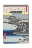 Night Rain at Karasaki, March 1857 Giclee Print by Hiroshige II