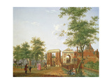 View of the Zylpoort, Harlem, 1780 Giclee Print by Isaak Ouwater