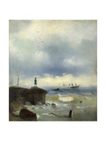 Pushkin Looking at the Black Sea, 1838 Giclee Print by Ivan Konstantinovich Aivazovsky