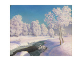 Winter Morning in Engadine Giclee Print by Ivan Fedorovich Choultse
