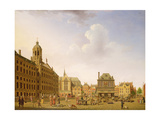 Dam Square - Amsterdam, 1782 Giclee Print by Isaak Ouwater