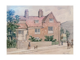 Old Houses at Kennington Green, 1855 Giclee Print by J. Findley
