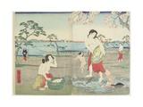 Fisherwomen, March 1864 Giclee Print by Hiroshige II