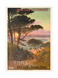 Poster Advertising Hyeres, France, C.1900 Giclee Print by Hugo D' Alesi