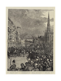 The Queen's Visit to Birmingham, the Royal Procession in the Bull Ring Giclee Print by Henry William Brewer
