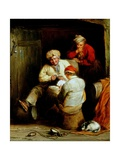 Smugglers Playing Cards Giclee Print by Henry Perlee Parker