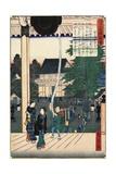 Myohoji Temple, Horinouchi, November 1862 Giclee Print by Hiroshige II