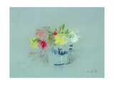 Flowers in a Blue and White Jar Giclee Print by Hercules Brabazon Brabazon