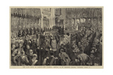 The Late Duke of Albany, the Funeral Service in St George's Chapel, Windsor, 5 April Giclee Print by Henry William Brewer