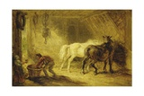 Interior of a Stable, C.1830-40 Giclee Print by James Ward