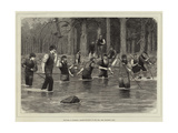 Sketches in Braemar, Salmon-Spearing on the Dee Giclee Print by J.M.L. Ralston