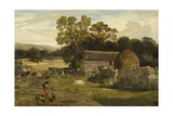 Landscape with a Farm Giclee Print by James Peel