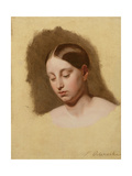 Study for the Head of a Young Woman Giclee Print by Hippolyte Delaroche