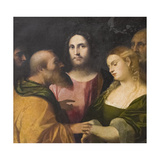 Christ and the Adulteress, 1525-28 Giclee Print by Jacopo Palma