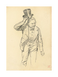 Man Tipping His Hat, C. 1872-1875 Giclee Print by Ilya Efimovich Repin