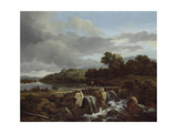 Landscape with Cascade, 1670s Giclee Print by Jacob Isaaksz Ruisdael