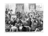 Maryland - Scene in the Court-House at Annapolis - Trial of Mrs Wharton on the Charge of Murdering Giclee Print by James E. Taylor