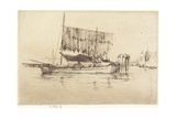 Fishing-Boat from The Second Venice Set, 1879-1880 Giclee Print by James Abbott McNeill Whistler