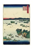 Actual View of Mastushima, Oshu Province, June 1859 Giclee Print by Hiroshige II