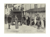 Sketches in Scotland, Arrival of the Coach at the Fife Arms, Braemar Giclee Print by J.M.L. Ralston