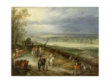 Extensive Landscape with Travellers on a Country Road, C.1608-10 Giclee Print by Jan Brueghel the Elder