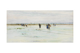 Fisherwomen on the Shore Giclee Print by James Webb