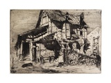 The Unsafe Tenement from Twelve Etchings from Nature, 1858 Giclee Print by James Abbott McNeill Whistler