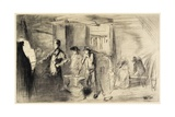 The Forge from Sixteen Etchings of Scenes on the Thames and Other Subjects, 1861 Giclee Print by James Abbott McNeill Whistler