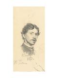 Self-Portrait, 1873 Giclee Print by Ilya Efimovich Repin